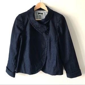 J. Crew linen blend Ottoman Aubrey jacket